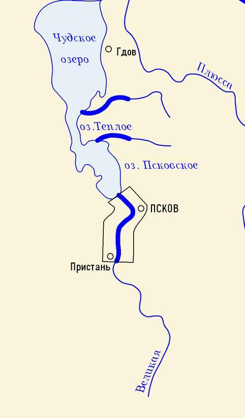 Карта охватывает участок реки