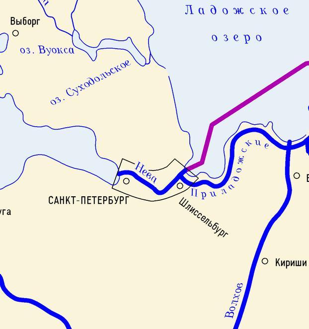 Где на карте находится река нева на карте